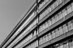 Windows. In building, abstract image of architecture Stock Image