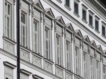 Windows on building in black and white Stock Images