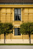 Windows and building facade. Details of windows and building facade at Schoennbrunn Castle, Vienna, Austria royalty free stock photography