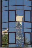 Windows of the building with mirrored glass Royalty Free Stock Images