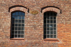Windows in building of stud farm Albertovec, North Moravia Royalty Free Stock Images