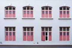 Windows on the building wall Stock Photos