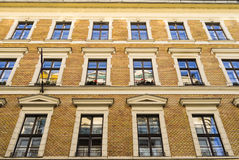 Windows. Buildings, windows and reflections, in Budapest Stock Photo