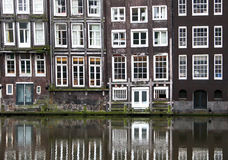 Windows from a builsing in Amsterdam Stock Photo