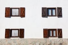 Windows a Burguete Fotografia Stock