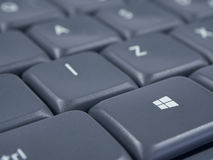 Windows button on grey keyboard with focus and soft background Royalty Free Stock Photography