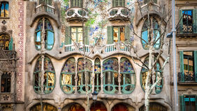 Windows of Casa Batlló Royalty Free Stock Images