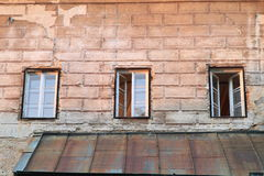 Windows of castle Stock Photography