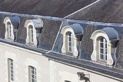 Windows of the Castle of Villandry Royalty Free Stock Photo