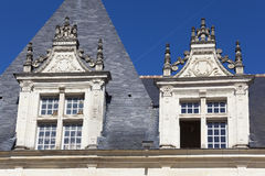Windows of the Castle of Villandry Royalty Free Stock Photos