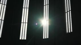 Windows in the cathedral and day light.  stock video