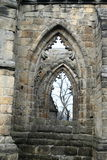 Windows of cathedral on Oybin castle and monastery Stock Image