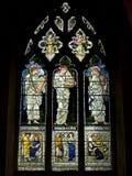 The Windows of the Catholic church Royalty Free Stock Photo