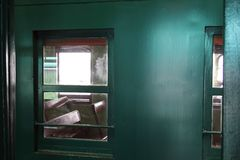 Windows and Chairs in Diesel Electric Engine Train No.51 Stock Photography