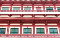 Windows China Temple in Town. Singapore stock images