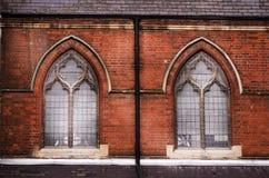 Windows of church in Islington London UK.  Stock Photo