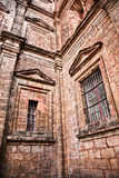 Windows of church in Old Goa India Stock Image