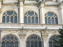 Windows of church St Eustache Stock Photo