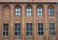 Windows in città corridoio gotica Fotografia Stock Libera da Diritti