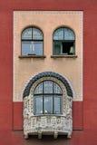 Windows on cityhall in Subotica, Vojvodina, Serbia Royalty Free Stock Photos