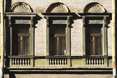 Windows classic on the facade in saint-petersburg Stock Image