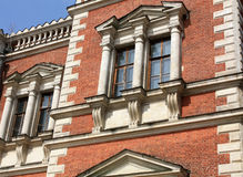 Windows of the classical style building Stock Image