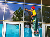 Windows cleaner Royalty Free Stock Images