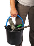 Windows cleaner with tools Stock Image