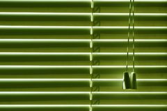 Windows closed blinds, sun protection on a bright day. royalty free stock images
