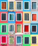 Windows collage Stock Photography