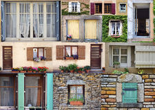 Windows collage from France Stock Images