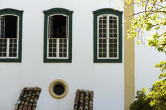 Windows in colonial style, in Sao Paulo Stock Photos