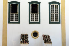 Windows in colonial style, in Sao Paulo. SAO PAULO, SP, BRAZIL - MAY 16, 2015 - Windows in colonial style of the Monastery of Luz one of the last examples of Stock Image