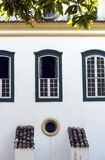 Windows in colonial style, in Sao Paulo Royalty Free Stock Photos