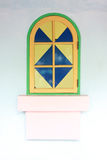 Windows with colorful of artistic design. Royalty Free Stock Images