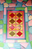Windows with colorful of artistic design. Stock Photo