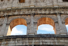 Windows of colosseum Royalty Free Stock Photography