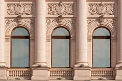Windows with columns. Stock Images