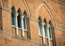 Windows and columns Siena Stock Photography