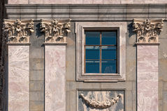 Windows with columns. Stock Image