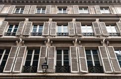Windows com joalousies em Paris Imagem de Stock Royalty Free
