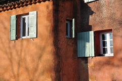 Windows composition, Roussillon, Provence Royalty Free Stock Image