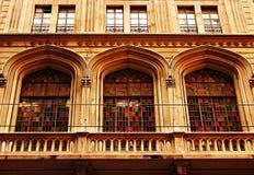 Windows con el vidrio coloreado Foto de archivo libre de regalías