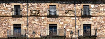 Windows con il balcone Immagini Stock
