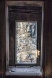 Windows con la statua Fotografia Stock