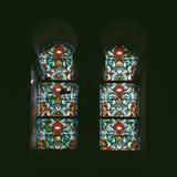 Windows con vetro macchiato immagini stock libere da diritti