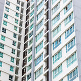 Windows of condominium Stock Images