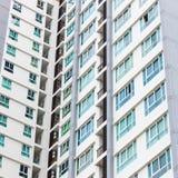 Windows of condominium. Windows of modern condominium, buildings Stock Images
