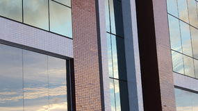 Windows. The windows of a contemporary building, brings up a prominence for architects who want to customize their work area or used for articles or Stock Photo