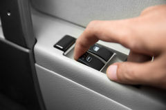 Windows controls and adjustments. Car window controls Royalty Free Stock Image